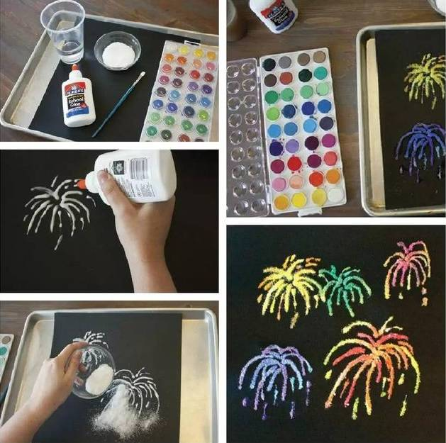 绘画丨绚烂烟花,春节环保创意绘画烟花制作教程
